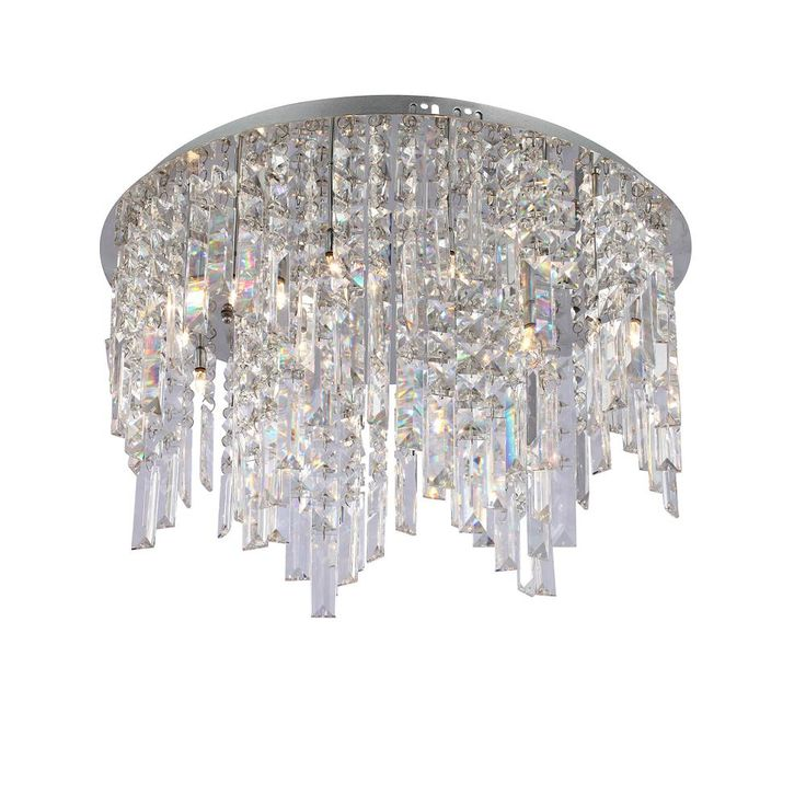 Żyrandol kryształowy MINYA plafon chrom Italux MP4810-12 R koło