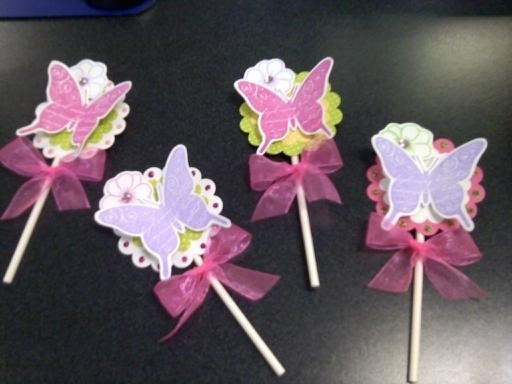 Butterfly Cupcake Toppers: Flowers Cupcakes, Butterfly Cupcakes, Cupcakes Toppers, Butterflies Cupcakes, Flower Cupcakes, Butterflies Punch, Butterflies Flowers, Butterflies Parties, Cupcake Toppers