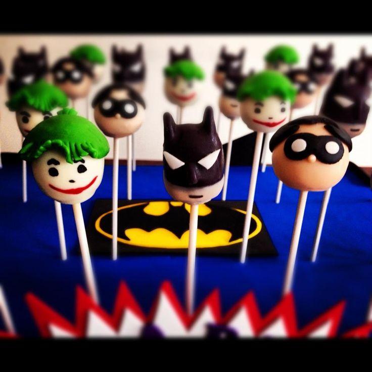 Batman And Joker Cake Pops