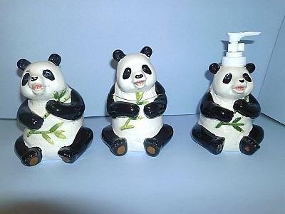 Exceptional Amazon.com: PANDA BEAR 3 D Ceramic Bathroom Bath Accessories Set NEW!