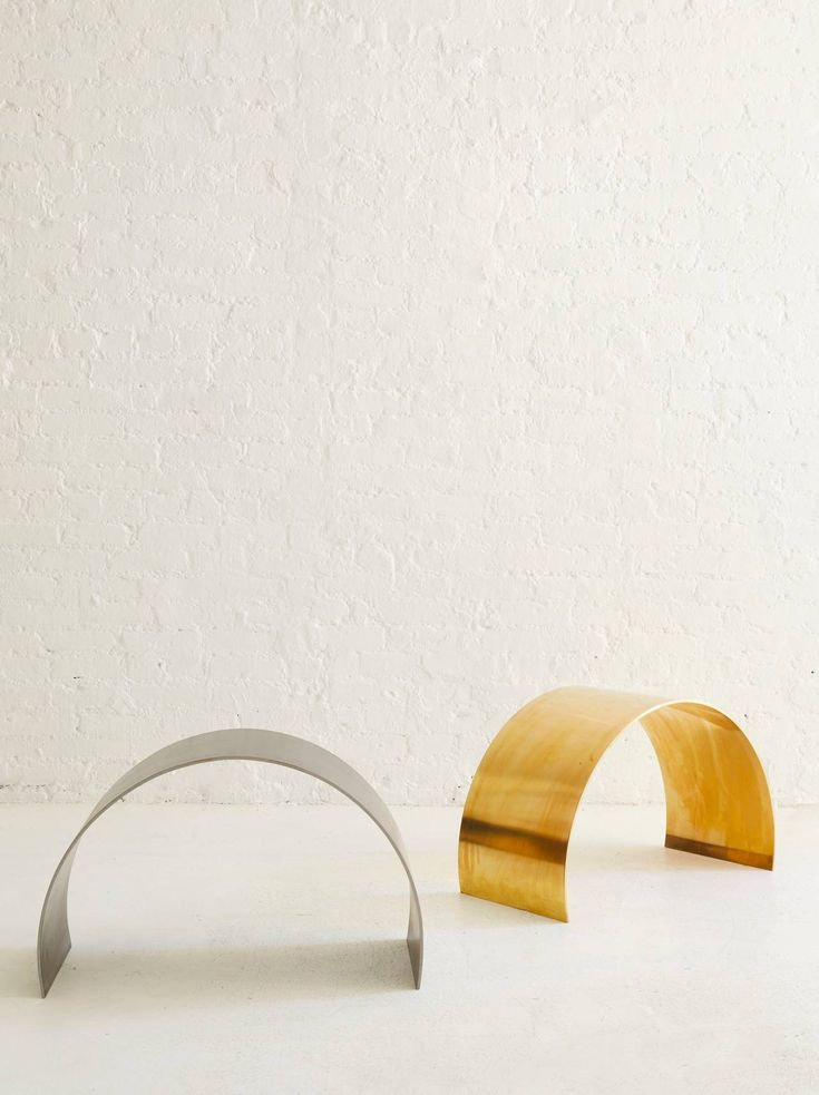 Arc Stool By ASH NYC In Brass