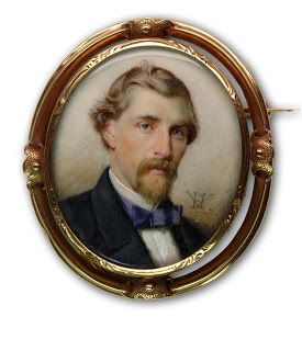 c.1890. Signed. Artist with Initials DVH. Unknown Gentleman: