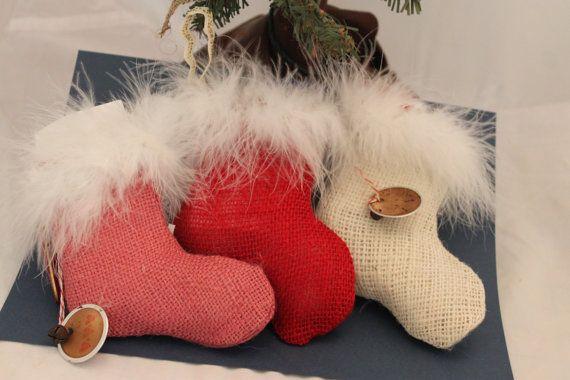 Calcetín de Navidad arpillera ornamento o titular de por Liongate