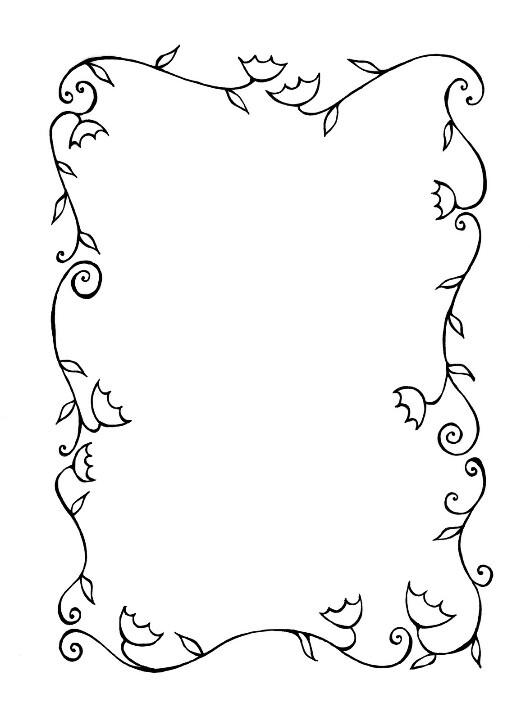 Flowers Borders Art 3 Ideas Pinterest Flower And