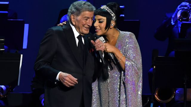 The adorable pair sing hits from their album Cheek to Cheek during their…