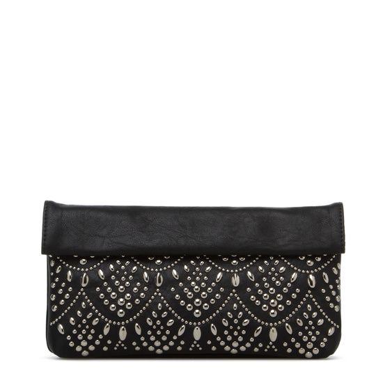 Beautiful handbag with fine finish rivets.