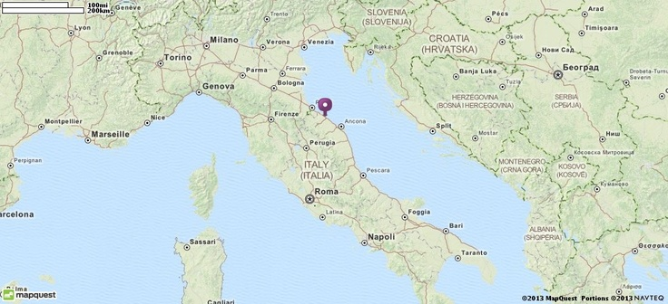 Map of Fano, Italy   MapQuest Bucket List