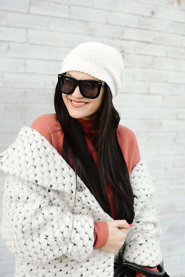 Grey Ant Sunglasses and White Beanie | eleventhandsixteenth.com