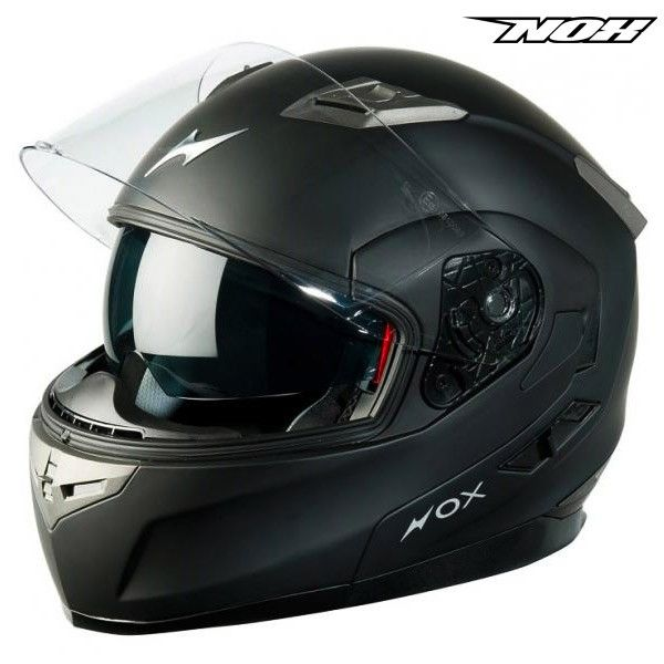 casque moto NOX N963 noir mat - Propilote