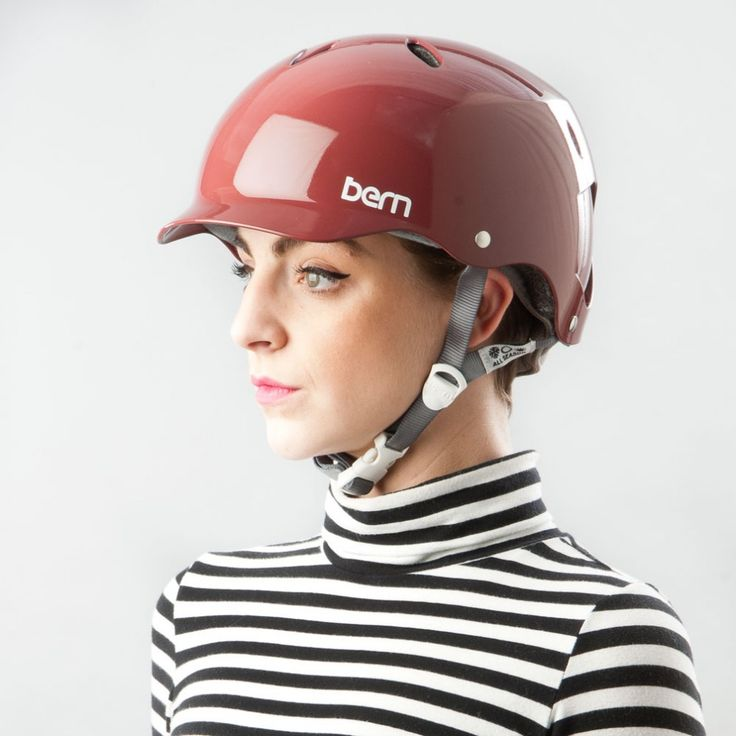 Bern Lenox Gloss Cranberry ladies bike helmet - | Cyclechic | Cyclechic