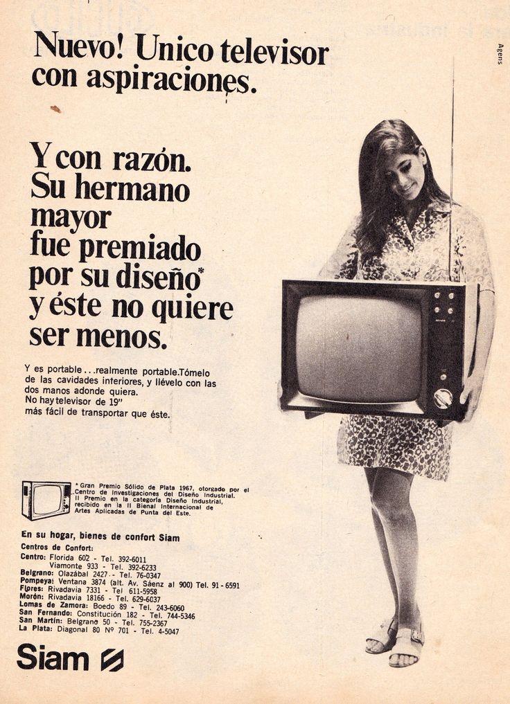 Televisor SIAM, 1968.