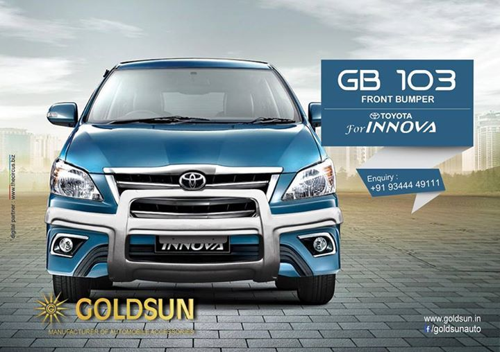 Stylish and classy, #Frontbumper for all SUV's & MUV's from Goldsun  Product : FRONT BUMPER Model : GB 103 Visit your nearest store or www.goldsun.in for a wide range of products from #Goldsun  For more details, call: +91 93444 49111