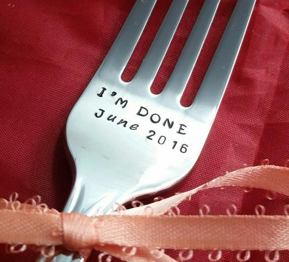 retirement gift I'm done retirement fork handstamped fork teacher retirement stamped Fork cake fork done fork for her for him personalized