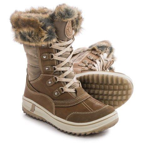 Santana Canada Myrah Snow Boots - Waterproof, Insulated (For Women) in Tan