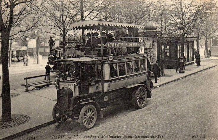 Certes, il n'y avait pas beaucoup de place, mais quelle allure quand męme... (carte postale, vers 1910)