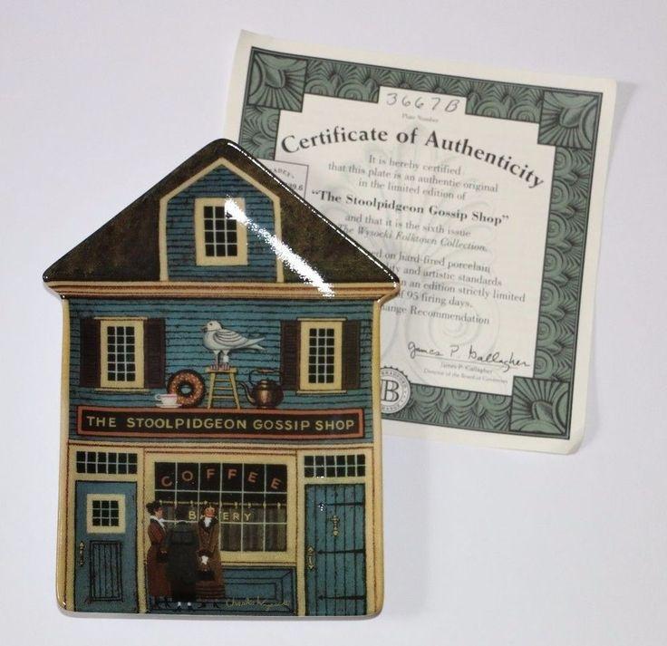 Wysocki House The Stoolpidgeon Gossip Shop Bradford Exchange Plate No. 3667B #babescollectibles