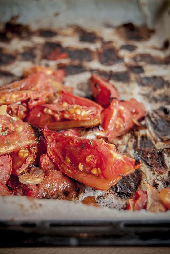 Pomodori appena arrostiti al forno