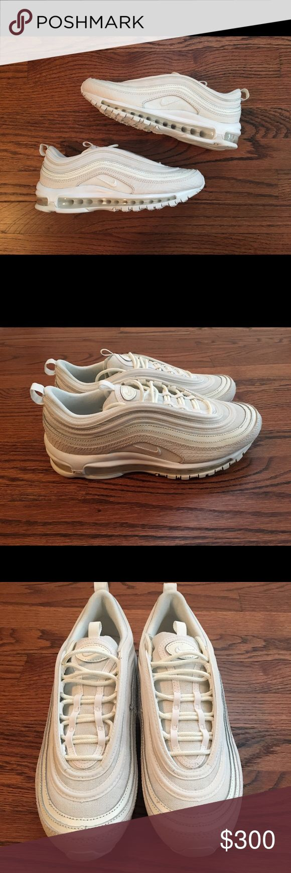 Nike Air Max 97 Summer Scales Summit Wht Snakeskin Brand new, without box. Summit White. Size: 8. VERY RARE, limited 2017 release. Please note bottom on heel marks in picture. Please make OFFICIAL OFFERS and BUNDLES! Fast shipping!! Nike Shoes Sneakers