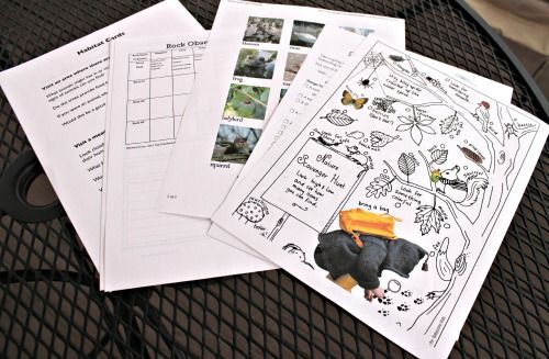 Free printable nature activities