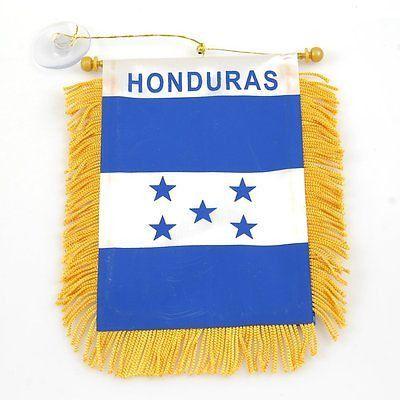 Honduras Flag Honduras Mini Banner-Honduras Mini Flag with Suction Cup-Brand New
