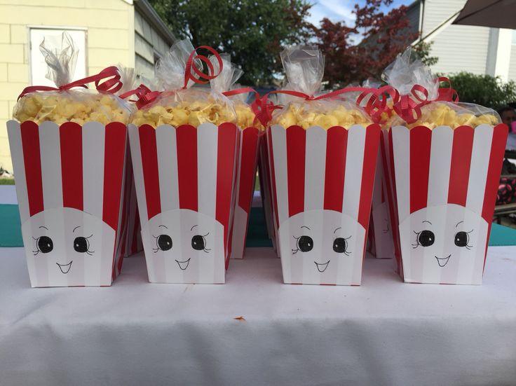 Homemade Poppycorn Favors For Shopkins Themed Birthday Party Shopkins Party Shopkins Party Decorations Shopkins Birthday Party