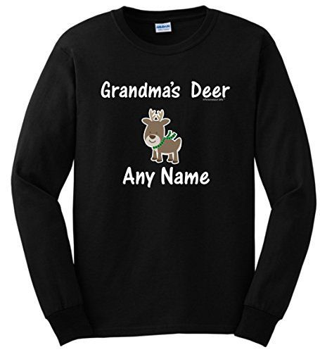 This personalized gift makes a great Christmas gift for Grandma. This top-quality, 100% cotton T-Shirt is printed direct-to-garment with new age technology that preserves the color-fastness of the design. This unique T-Shirt is designed and printed in the United States with eco-friendly ink, so... more details available at https://perfect-gifts.bestselleroutlets.com/gifts-for-elderly/product-review-for-personalized-grandma-christmas-gift-grandkid-1-name-long-sleeve-t-shirt/