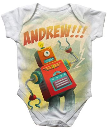 125 best geeky baby gifts images on pinterest baby gifts baby personalized robot onesie best geeky baby gift ever negle Gallery