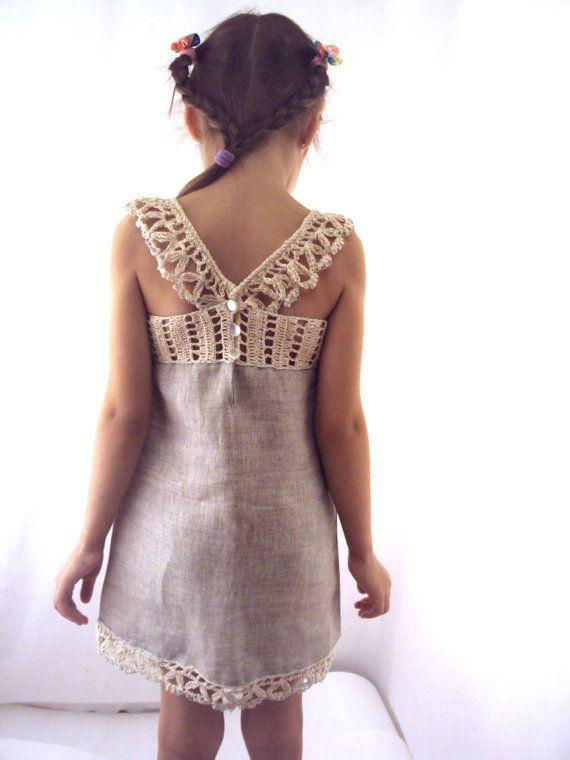 floewr dress/linen dress/Linen/ flax Organic by TheBabemuse