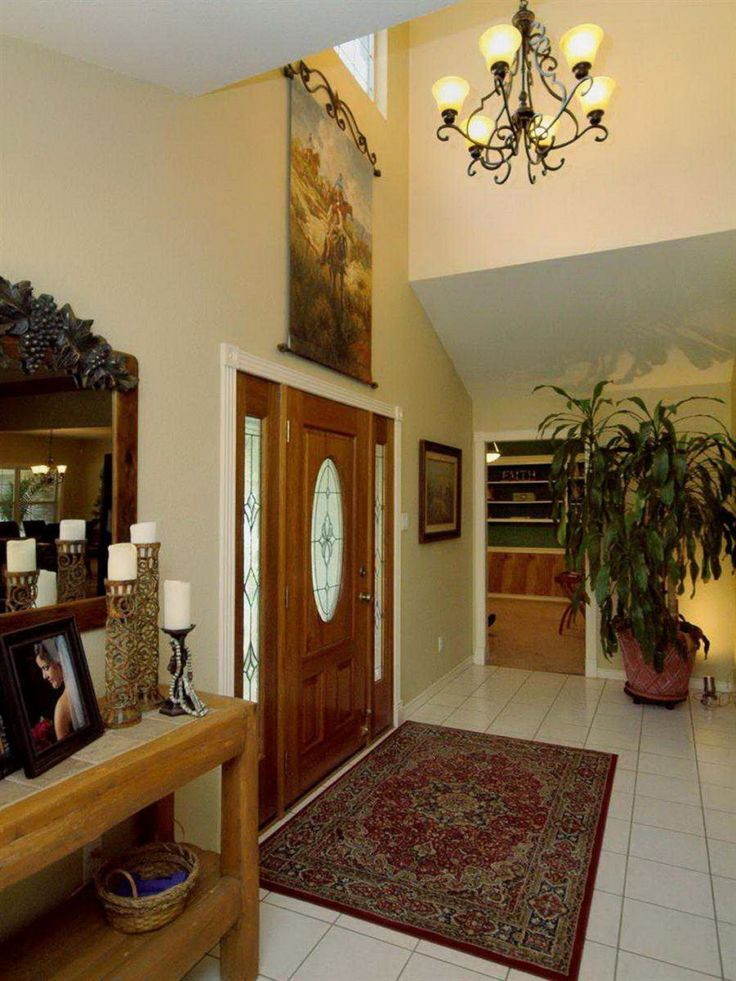 Foyer wall decorating ideas google search entrance way for Foyer flooring ideas
