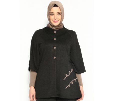 Klasik Hırka - Siyah - Bluzzen
