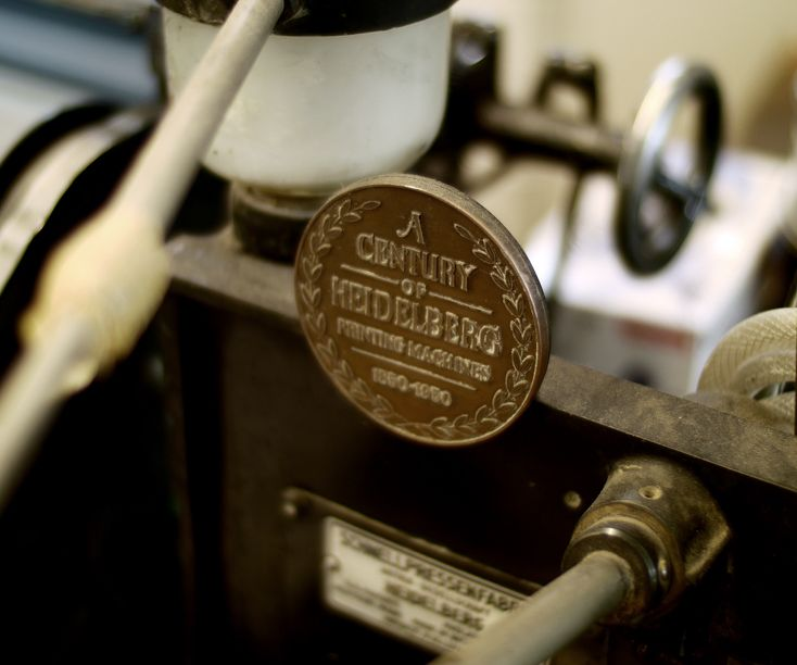 Our Heidelberg Letterpress machine is a thing of beauty. Vintage, but state of the art Cards!