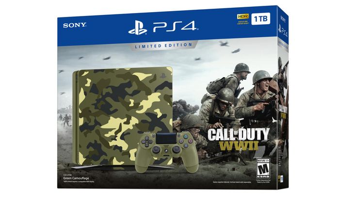 Call Of Duty: WW2-Themed PS4 System Features Camo Design And Green Controller