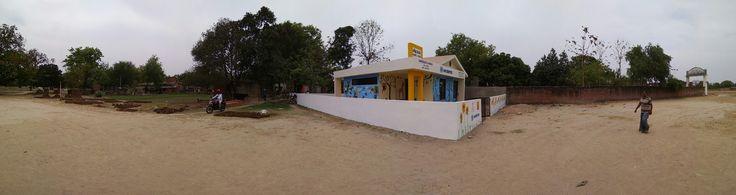 Changing the #rural #landscape.   Installing Education!   #Nandghar #Aanganwadi #Harsos #Varanasi #UttarPradesh #UP #education #India #MAADCONCREWALL  MAAD Group of Companies