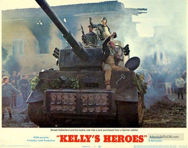 Kelly's Heroes - Lobby card with Donald Sutherland & Gavin MacLeod