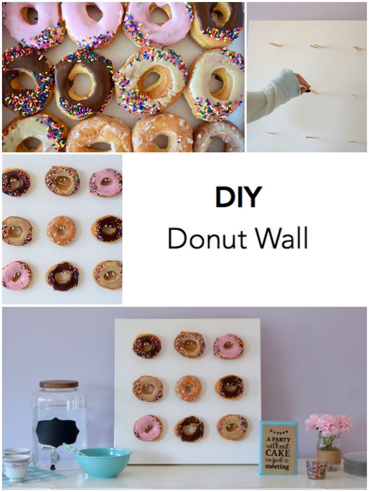Diy Donut Wall Via Www Publiclivessecretrecipes Com 2015 11 Diy