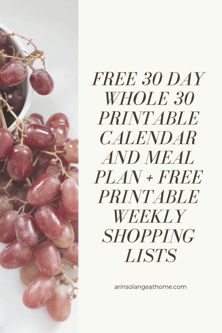 photograph about Whole 30 Calendar Printable identified as No cost Printable Full 30 Calendar Printables Total 30