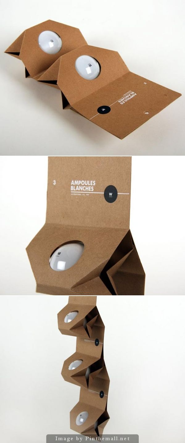 Packing Bulb | Material optimization by Melissa Pilon who has developed this system of #packaging for #light bulbs! | @Ivan Cherevko Cherevko Giorgetti