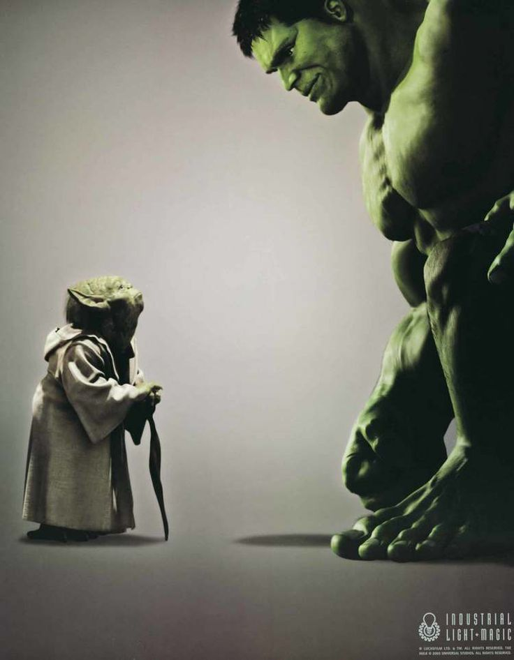 Yoda Hulk — Official but rare ILM poster