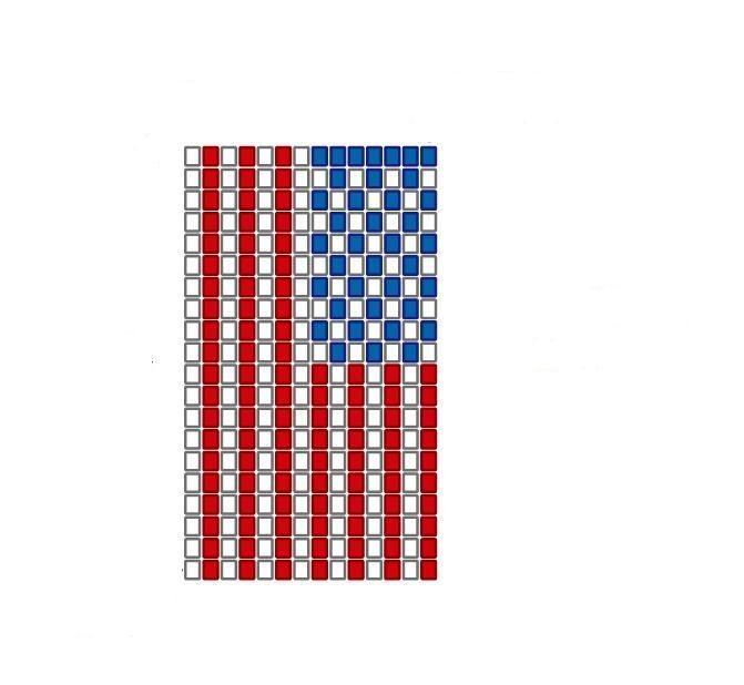 steagul Americii - bratara din margele de nisip tesute!