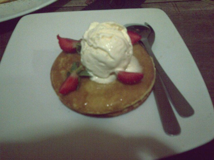ice cream vanilla pancake
