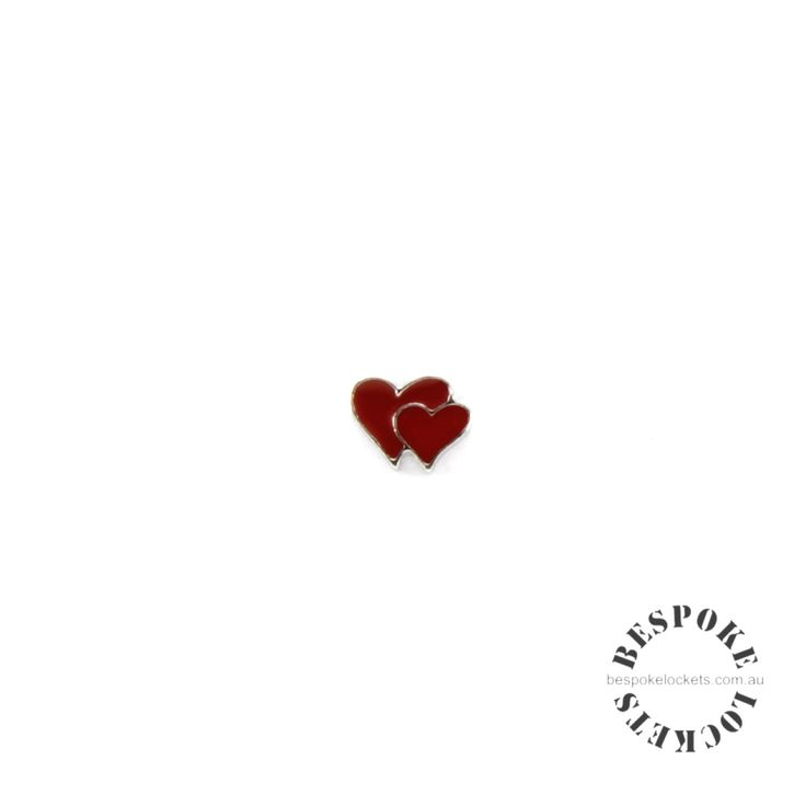 Double Heart - Floating Charm