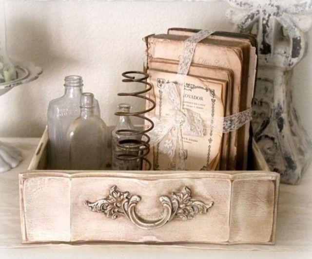 oude lade,als en met decoratie