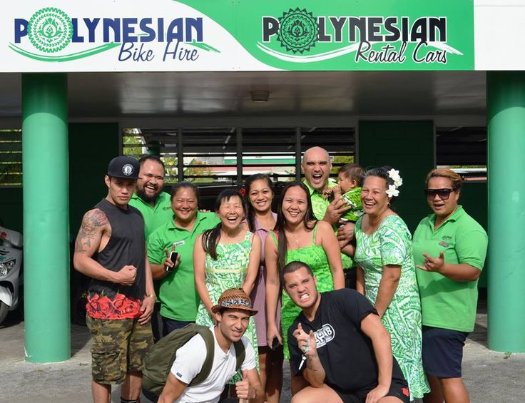 Stan Walker hired his scooter from Polynesian Rental Cars in #Rarotonga