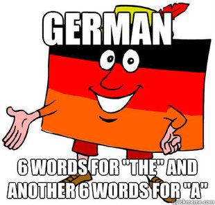The wonderful German language! I still like it though :)
