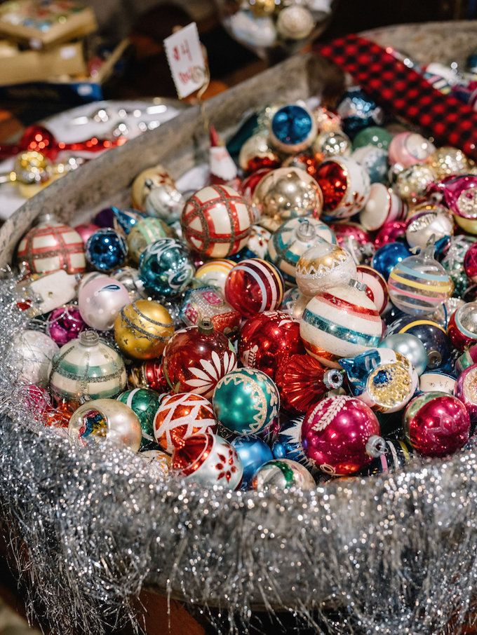 Vintage Whites Blog: 2015 vintage Christmas market recap!~~~Love, Love these vintage ornaments!!!~~~
