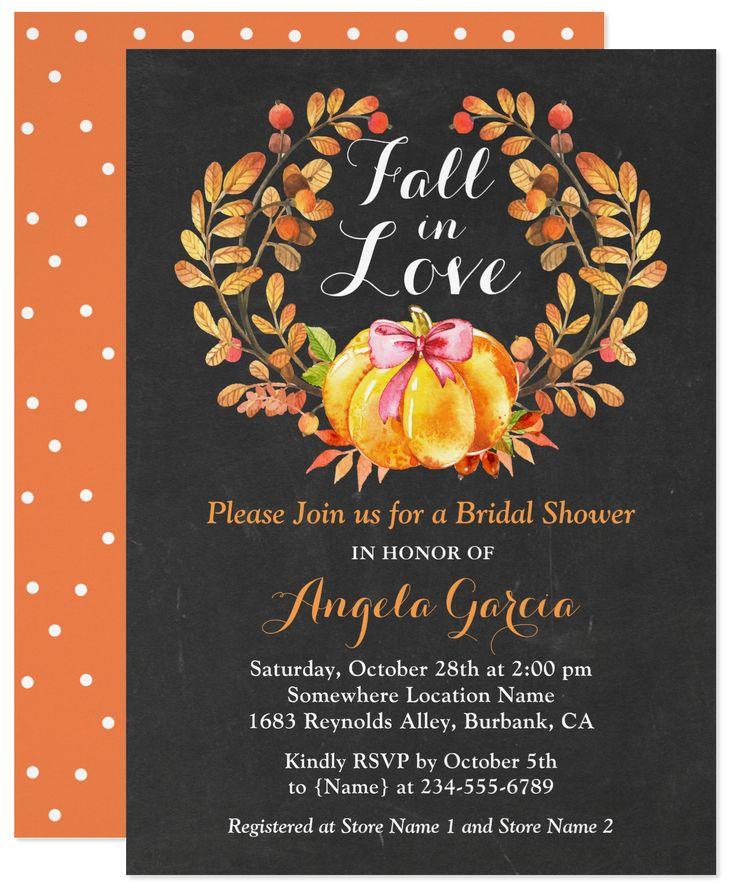 4830 best bridal shower invitations images on pinterest fall in love rustic pumpkin bridal shower invitation stopboris Choice Image