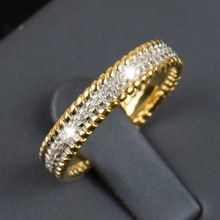2016 R & J Nueva moda 5A Real 925 anillo de plata Circón Joyería Wedding Band Oro lleno plateado de regalo de las mujeres(China (Mainland))