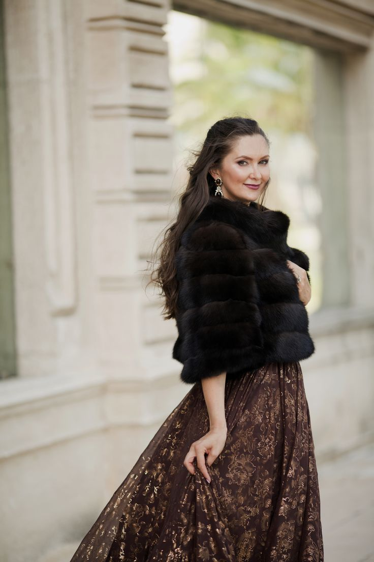 Luxurious sable crop fur coat, available at ‪#‎ADAMOFUR‬ stores and via What's App