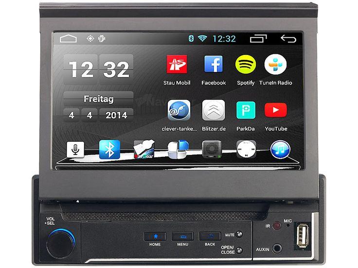 NavGear 1-DIN Android-Autoradio DSR-N 310 - GPS, WiFi, BT2, MirrorLink