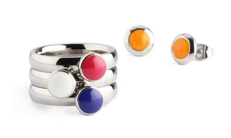 MelanO Twisted rings + earrings, colorful!  #MelanO #twisted #jewelry #sieraden #ring #oorbellen #earrings